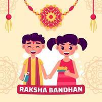 Rakhsa Bandhan Concept vector
