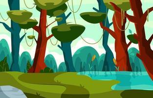bosque para la celebración del verano vector