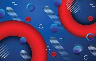 Blue and Red Abstract Background vector