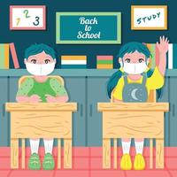 Back to School with Kids Template vector