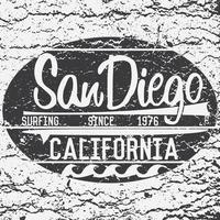 Tshirt Printing design typography graphics Summer vector illustration Badge Applique Label California San Diego surf sign