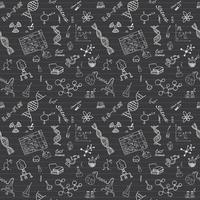 Chemistry and science seamless pattern with sketch elements Hand Drawn Doodles background Vector Illustration