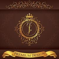 Letter I. Luxury Logo template flourishes calligraphic elegant ornament lines. Business sign, identity for Restaurant, Royalty, Boutique, Hotel, Heraldic, Jewelry, Fashion, vector illustration