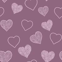 Seamless pattern with hand drawn doodle hearts, vector illustration, Abstract background
