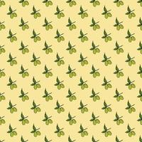 Olive branch seamless pattern. Natural background Design with olives for olive oil or cosmetics products, vector illustration