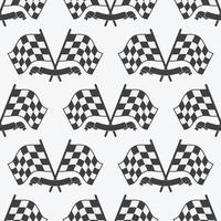 Checkered Flag seamless pattern, racing flags icon and finish ribbon. Sport auto, speed and success, competition and winner, race rally, vector illustration
