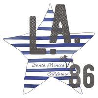 T-shirt typography design, LA california santa monica beach  printing graphics, typographic  vector illustration, Los Angeles graphic design for label or t-shirt print, Badge, Applique