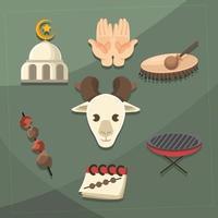 Meaty Food on Eid Al Adha vector