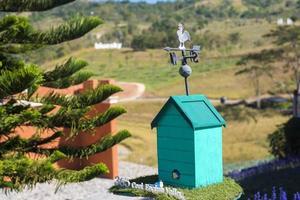 Wind turbine on roof photo