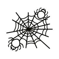 halloween spider net line style icon vector