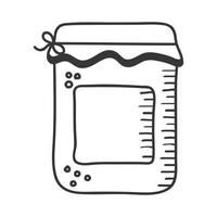 honey jar hand draw and line style icon vector design