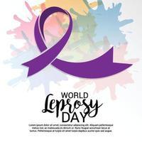 ilustración vectorial de un fondo para el día mundial de la lepra vector