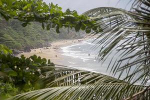 Varkala Beach en el estado de Kerala, India foto