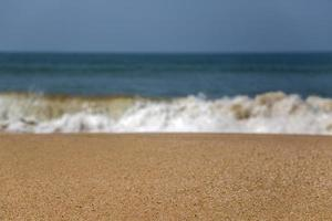 Beach in Anjuna Goa India photo