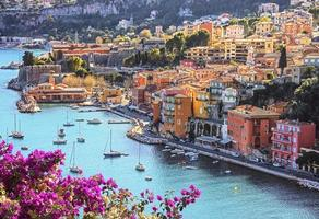 Villefranche Sur Mer on the French Riviera in summer photo