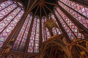 Saint Chapelle interior, Paris, France photo