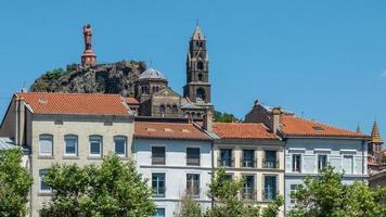 Notre Dame de France Statue and Cathedral Puy en Velay, Haute-Loire, France photo