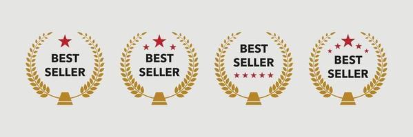 Best seller badge logo gold design vector icon