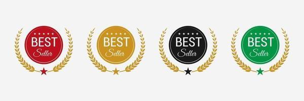 Best seller badge logo design Best seller vector isolated