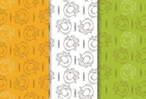 Seamless pattern of donuts restaurant vector