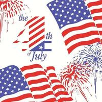 Fondo de fuegos artificiales para el 4 de julio día de la independencia. vector
