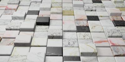 Colorful marble texture wall, 3d illustration photo