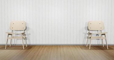 Dos sillas blancas modernas, ilustración 3d foto