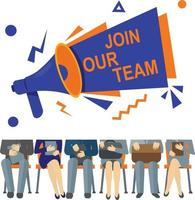 Join Our Team Poster vector