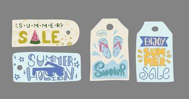 Summer sale label Enjoy Summer tag vector