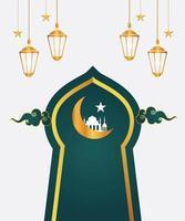 Islamic ornaments of muslim vector
