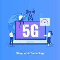 5G network technology illustration concept vector