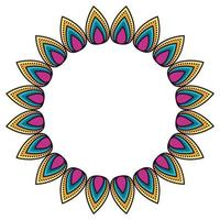 Isolated mandale circle vector design
