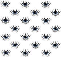 Eye seamless pattern vector