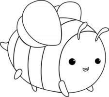Bee Kids Coloring Page Great for Beginner Coloring Book vector