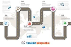 Business road map timeline infographic city designed for abstract background. Template milestone element modern diagram process technology digital. Marketing data presentation chart. vector