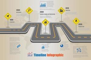 ciudad de infografía de línea de tiempo de mapa de carreteras de negocios diseñada para hito de plantilla de fondo abstracto. elemento diagrama moderno tecnología de proceso marketing digital presentación de datos gráfico vector