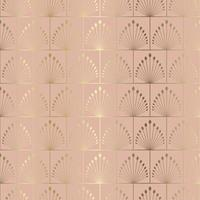 art deco style seamless tiled pattern background vector