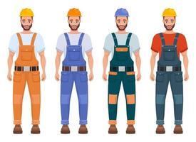 Ilustración de diseño de vector de trabajador de hombre aislado sobre fondo blanco