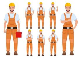 Man worker vector design illustration isolated on white background