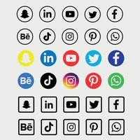 Social media icons collection vector