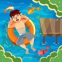 Summer Camp Enjoy Swim vector
