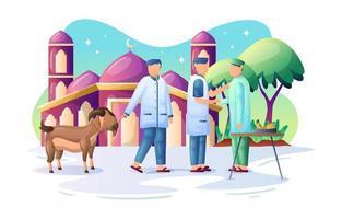 Eid Al Adha Celebrations Concept vector