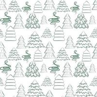 Seamless background with different Christmas trees Vector New Year