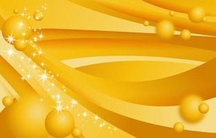 plantilla de onda amarilla de lujo con efecto brillante vector