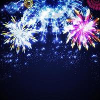 Colorful Sparkling Fireworks Background vector