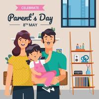 Happy Family Celebrate Parents Day vector