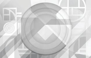 White Circular Abstract Background vector