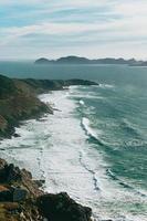 An aerial shot of a wild coast in Spain photo