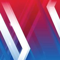 Mix Red White Blue Geometric Shapes Background vector