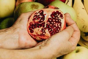 Passion fruit over fruits photo